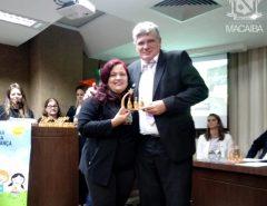 Prefeito Fernando Cunha é homenageado por trabalho de combate ao trabalho infantil realizado em Macaíba
