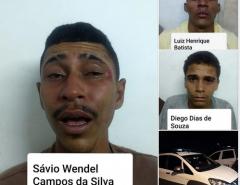 Três bandidos são presos em Natal com carro roubado