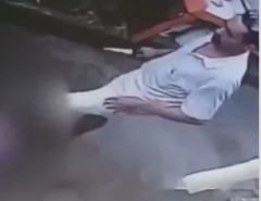 Em Natal, câmeras de vigilância mostram mulher sendo esfaqueada pelo marido