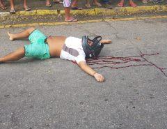 Plantão: Homem é morto a tiros  no centro de Macaíba