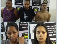 Polícia Civil prende cinco integrantes de facção criminosa envolvida com homicídios e tráfico de drogas