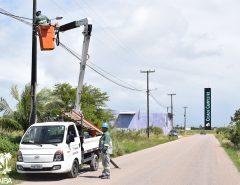 Prefeitura de Macaíba instala novas luminárias em Cidade Campestre