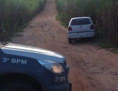 PELOTÃO DESTACADO PM DE MONTE ALEGRE RECUPERADO CARRO ROUBADO