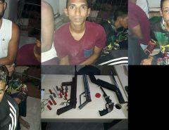 Em Natal Policiais Militares do 9° BPM prendem quadrilha de assaltantes e apreendem arsenal