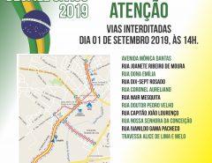 Macaíba: Interdição de ruas neste domingo de Desfile Cívico