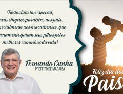 Mensagem do prefeito Dr. Fernando para o Dia dos Pais 2019