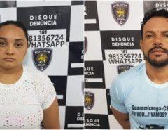 Polícia Civil prende casal por tráfico de drogas em Parnamirim.
