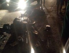 Acidente entre moto e caminhão deixa vítima fatal em Macaíba