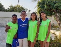 Estudantes e atletas da Vila Olímpica estão em Fortaleza representando Macaíba em competição nacional