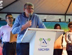 Macaíba: Prefeito inaugura obra de pavimentação em Canabrava