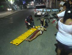 Macaíba: Homem sofre grave acidente ao tentar empinar moto no Centro