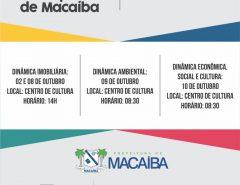 Plano Diretor: Prefeitura de Macaíba promove série de oficinas temáticas a partir desta quarta (02/10)