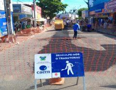 Macaíba: Após notificação da Prefeitura, CAERN executa serviços de reparação nas ruas