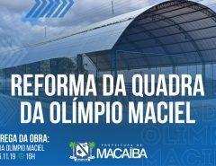 Prefeitura de Macaíba realiza entrega de quadra reformada em Lagoa das Pedras nesta quarta