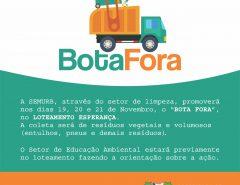 """Macaíba: Prefeitura promove """"Bota Fora"""" no Loteamento Esperança a partir do dia 19/11"""