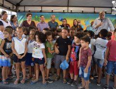 Macaíba: População do bairro Lagoa das Pedras recebe quadra totalmente reformada