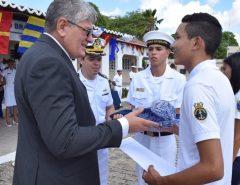 Na Marinha, prefeito de Macaíba prestigia formatura do PROFESP; Município tem 135 alunos no programa