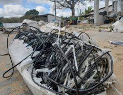 Operação apreende cabos, baterias e tubos roubados em depósitos do RN