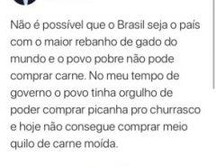 """Ex-presidente Lula: """"No meu governo povo comprava picanha"""""""