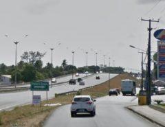 Via marginal da BR-101 será interditada para obras em passarela de Parnamirim, RN