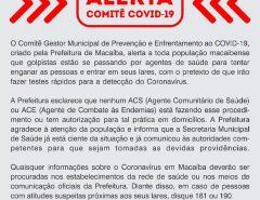 Coronavírus: Comitê alerta que golpistas estão agindo em Macaíba se aproveitando da situação