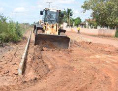 Trabalho incessante: Prefeitura de Macaíba inicia pavimentação de acesso à Lagoa do Lima