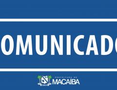 Comunicado da Prefeitura de Macaíba sobre distribuição de kits alimentares