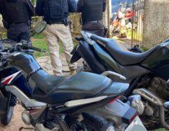 PRF e PM recuperam em Macaíba motocicleta roubada momentos antes