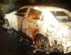 Violência: Homem é encontrado morto e algemado próximo a um carro queimado às margens da BR 406, em Guamaré RN