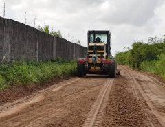 Macaíba: Prefeitura realiza trabalhos em estradas vicinais nas imediações da Reta Tabajara