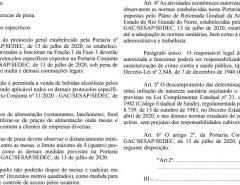Bares e restaurantes no RN poderão vender bebidas alcoólicas a partir de 05 de agosto, informa portaria no Diário Oficial