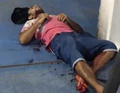 Macaíba: Jovem é baleado em frente a academia (ATENÇÃO IMAGENS FORTES)