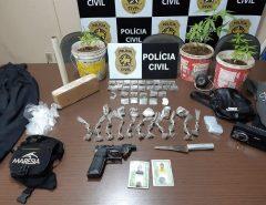 Em Macaíba Polícia prende dupla em flagrante suspeita de tráfico de drogas