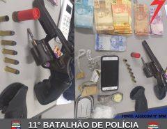 POLÍCIA MILITAR APREENDE DROGAS E ARMA DE FOGO EM SÃO GONÇALO DO AMARANTE