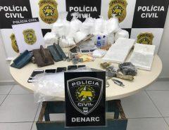 Polícia Civil fecha laboratório de manipulação de cocaína e prende homem de 21 anos no bairro Dix-Sept Rosado, em Natal