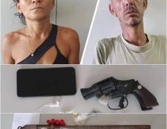 Cadeia: Policia Civil prende casal foragido da justiça com armas e drogas em Mossoró-RN