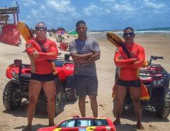 Salvamento na Praia da Redinha em Extremoz