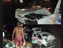 Tragédia: Quatro pessoas morrem e um bebe de três dias de vida sobrevive  em uma acidente de carro no interior do RN