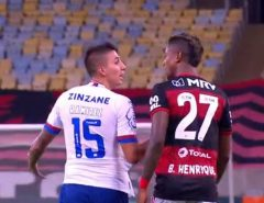 RACISMO: Câmeras flagram insulto xenofóbico de jogador do Fla a atleta acusado de racismo