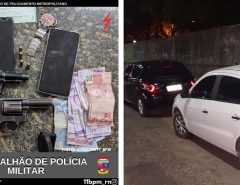 PM prende 4 homens e recupera 2 carros roubados após confronto em Ceará-Mirim