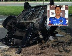 Tragédia: Goleiro de 21 anos morre em acidente de carro; motorista estava alcoolizado