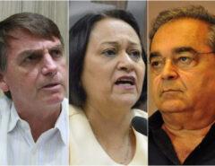 PESQUISA: Confira a avaliação de Bolsonaro, Fátima e Álvaro Dias em Natal