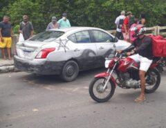 Macaíba: Homem surta e deixa abandonado carro na ponte