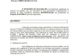 Macaíba: Prefeitura alega que não tem como realizar o concurso devido a pandemia
