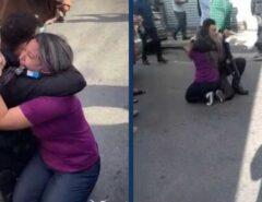 HEROÍSMO QUE VIRALIZOU – (FOTO): Policial abraça vítima que foi feita refém após salvá-la no RJ